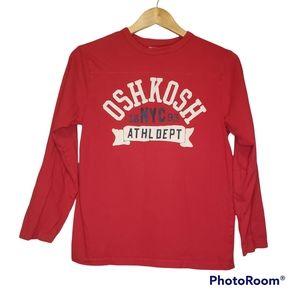 3 for $20 Boys Red Oshkosh Long Sleeve T-Shirt Size 12
